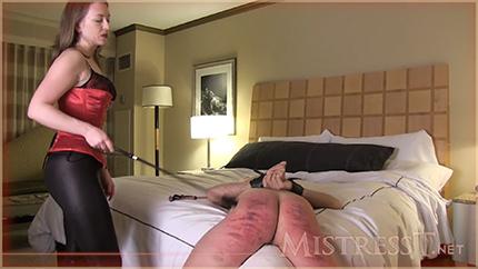 Mistress T порет до синевы своего нового раба